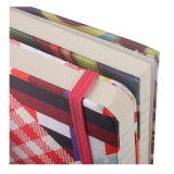 Libro de Hardcover de la tela con la venda de elástico