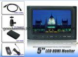 HDMI入出力800X 480専門家のカメラ5のインチLCDのモニタ、5D IIのカメラのモードの16:9