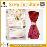 La vente chaude 45*45cm rougissent serviette de Tableau de polyester de décoration de mariage