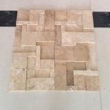 Mosaico beige del travertino di disegno 3D di Morden per le mattonelle di pavimento e della parete