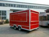 2017년 부엌 기계 사용, 이동할 수 있는 음식 손수레 트레일러 디자인 900 킬로그램