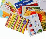 Tarjetas de papel para el cumpleaños y la Navidad