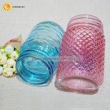 435ml farbiges Maurer-Glas mit Prägung