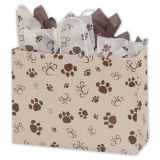 Paws Oatmeal Vogue Shoppers Customized Fashion Shopping et cadeau Kraft Paper Bag