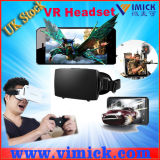 4.7-5.5 Inch Screen Smartphone를 위한 Magnet &Front Cover를 가진 플라스틱 Virtual Reality Vr 3D Google Cardboard Glasses Headset