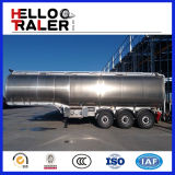 3 eixos 13 toneladas Mono-Obstruem o petroleiro do reboque do tanque de armazenamento do petróleo do cilindro Semi