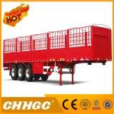 탄소 강철 3개의 차축 거위 목 모양의 관을%s 가진 반 40 톤 담 트럭 트레일러