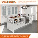 現代ホーム家具の純木の食器棚