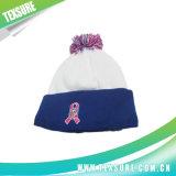 Подгонянные акриловой связанные зимой шлемы Beanies с верхней частью шарика (094)