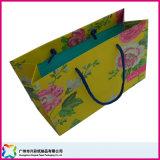 Gedruckter Papiereinkaufen-Träger-verpackenbeutel mit Griffen (xc-5-025)