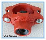 Ajustage de précision et couplage de pipe Grooved pour l'installation d'extinction automatique d'incendie avec l'UL de FM