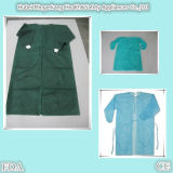 Pp. Non-Woven Disposable Hospital Isolation Gown mit Elastic Cuffs