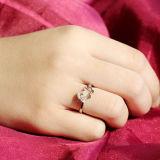 Anel Carneiro-Shaped bonito da abertura da prata esterlina da menina