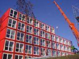 Casa del contenedor del paquete plano de la estructura de acero del estándar de ISO
