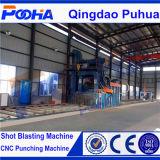 Macchina calda di vendita di trattamento preparatorio Line/2017 della macchina di granigliatura di profili d'acciaio caldi di vendita di alta efficienza di serie Q69