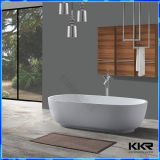 Белая ванна Corian акриловая твердая поверхностная Freestanding