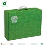 Kundenspezifisches Paper Gift Box mit Plastic Handle (FP7022)
