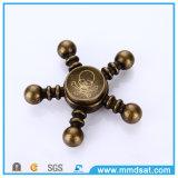 두개골 헤드 디자인 EDC 청동색 손 방적공
