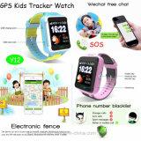 Relógio do perseguidor do GPS dos miúdos com telefone APP (Y12)