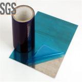Película de estiramiento protectora de la protección del PE azul ULTRAVIOLETA superficial auto-adhesivo de la película