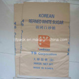 Sacco tessuto carta di plastica di carta gialla del sacco del Kraft