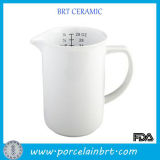 Kaffee Color Baking Tools Ceramic Measuring Cup mit Spout