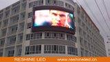 Fixos curvados/redondos ao ar livre interno instalam a tela de indicador video do diodo emissor de luz do arrendamento/painel/sinal/parede