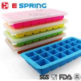 Поднос кубика льда силикона 21 шлица с контейнером замораживателя еды крышки
