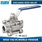 De Kogelklep FF/FM/mm 1000wog/Pn63 van het roestvrij staal 3PC (Fabrikant/Fabriek)