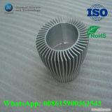 Aluminio personalizado Die Casting Ronda del disipador de calor de iluminación LED