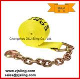 Cinta/carga da catraca que chicoteia com com extensões Chain ' o amarelo 4 x 20