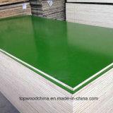 18mm/21mmの緑のプラスチックフィルムは合板を30回の使用薄板にした