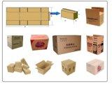 Terminar linha de produção ondulada da caixa da caixa