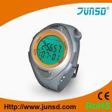Reloj del podómetro de la muñeca con el pulso (JS-712A)