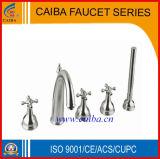 Faucet/misturador do aço inoxidável da banheira do banheiro