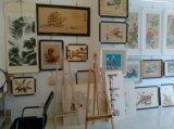 図か景色または花または静物画または動物6の鉄の絵画