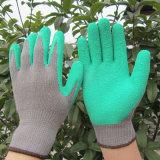 Guanto del lavoro di protezione della mano di sicurezza dei guanti ricoperto lattice