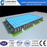 Entrepôt industriel préfabriqué d'atelier de structure métallique d'installation rapide de coût bas