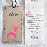 étiquette de papier de 2pieces Krraft pour l'habillement