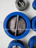 Tipo duplo válvula da bolacha da placa de verificação