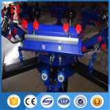Impresora manual de la pantalla de la camiseta para 6 la estación del color 6