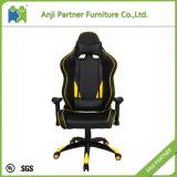 أصفر وسوداء الصين مصنع حديث إرتفاع ظهر [بو] قمار كرسي تثبيت ([مر])