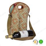 Saco ajustável do refrigerador do frasco de vinho vermelho do neopreno 2-Pack da correia