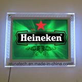 新しい壁に取り付けられた水晶LEDのライトボックス