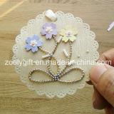 Impresión que cuelga la etiqueta decorativa/el arte de papel impreso hecho a mano de la flor DIY