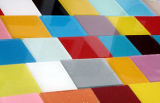 Vidrio de cristal laqueado rojo, verde, azul, rosado de la pintura de la pintura de cristal