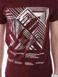Custom_Design 금속 인쇄 면 형식 남자의 T_Shirt