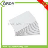 Blanco tarjeta de proximidad de 125 kHz en blanco con el número de serie impreso