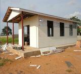 Casa modular del acero estructural para el emplazamiento de la obra