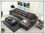 Sofà di combinazione, sofà del cuoio genuino, sofà del salone (M221)